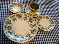 78 piece Dinnerware set consisting of:. 17 large (10