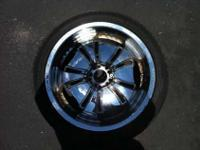 Rims and tires DIABLO The set of 4 used Diablo chrome