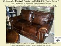 Stunning 100% Top Grain Leather Loveseat in Brown.This