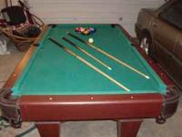 I am selling a 7 ft. pool table. It comes with a set of