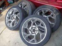 (4) 7 inch chrome rims. Universal lug but missing
