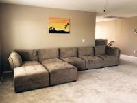 This 7 piece modular sectional is a designer's dream.