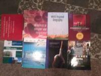I have 7 different text books I used that I needed for