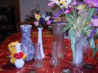 "7 VASES ranging in height from 6"" to 10"" ~ With FAKE"