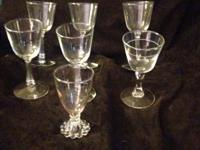 vintage wine glasses. The 3rd picture is of 5 identical