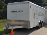 "For sale Enclosed Trailer 7ft W x 16ft L x 6'3""ft H."