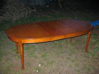 7Ft Cherry Dining Table. Solid cherry oval dining room