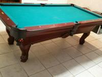 STRATFORD 7FT Pool Table with Queen Ann Legs. Two-piece