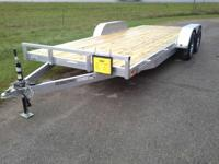 7x18 car hauler with 2-3500# torsion axles, radial