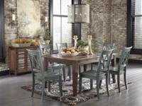 ** 7PC. EATING ROOM COLLECTION ~ MESTLER DISTRESSED