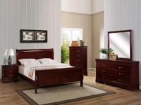 THIS BEAUTIFUL COMPLETE SOLID WOOD BEDROOM SET IS A