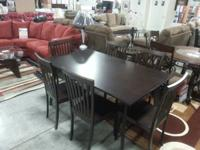 New 7pc Dining Table set! Name Brand! Was $799. NOW