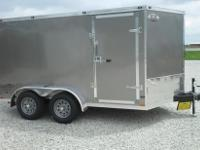 2015 Stealth 7x12 tandem axle enclosed trailer with