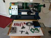 A Digital variable speed '7 x 12' Mini Lathe complete