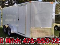 7x14 TA Enclosed Cargo Trailer Barn Doors STANDARD