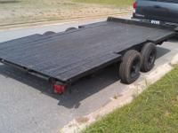 7x15 ft flatbed tandem axle trailer. 4 sale on a