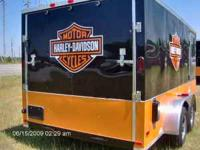 Toll Free  7x16 New v nose enclosed cargo trailer with
