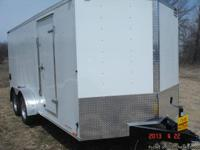 New 2013 Continental Cargo 7x16 V-nose enclosed