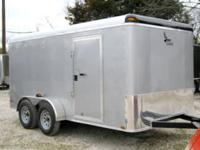 7x16 Tandem Axle Cargo Trailer with Rear Ramp LIMITED