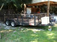 This is a tandem axel trailer with 3foot sides. Heavy