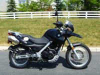 2009 BMW G650GS; Bike is black with lowered suspension