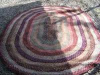 FOR SALE: 8 1/2 BY 6'' 2'' BRAIDED RUG AND IT IS IN