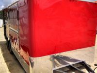 8.5 x 16 Red BBQ Trailer w/Porch and Side Rails