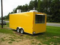 8.5 x 18 Concession Trailer, your choice of exterior