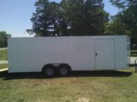8.5 x 20 enclosed cargo trailer. we finance. shipping
