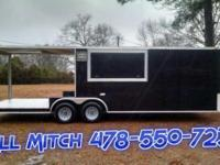 8.5 x 24 TA3 Enclosed BBQ/Porch Trailer Standard