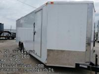 8.5 x 24 plus V-nose Enclosed Cargo Trailer additional