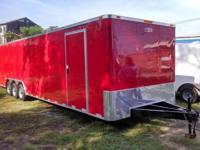8.5 x 34 Enclosed Car Hauler Flat Nose 5200 lb axles