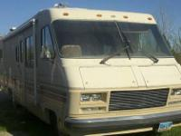 Motor home has a 454 chevy motor, Good tires ,Sink,