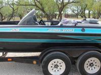 1997 Hydra-Sports 205 20.one foot bass boat. 2000