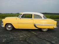 This is a 1953 Chevy Bel Air Power Glide 2 Door Sedan