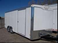 2015 HAULMARK 8.5X20 Car hauler. Trailer has rear ramp,
