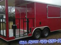 8.5x20' Red Enclosed BBQ Trailer STANDARD CARGO TRAILER