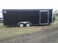2000 Used 8.5x22 Enclosed Trailer: * 2-3500# Axles *