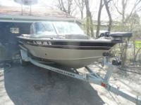 2002 Tracker Targa aluminum fish/ski boat 17WT. Walk