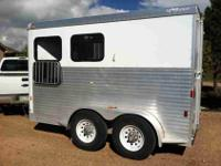 2006 Exiss all aluminum two horse slant bumper pull,