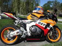 2007 Honda CBR 1000RRLimited Edition Repsol with 3800