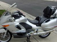 Fully equipped silver metallic BMW 2003 K1200 LTC. The