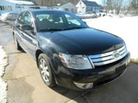 2008 AWD Black Ford Taurus SEL with 104,700 miles on