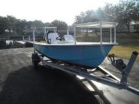 Glencraft, custom made flats boat 19' side console with