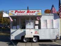 A very nice concession trailer used to sell shaved ice