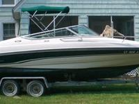 1996 21' Chaparral SST 2135 Cuddy Cabin extended