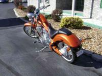 This Orange 2011 Honda Fury has ANTILOCKING BRAKES and