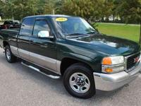 This 2002 GMC Sierra 1500 SL features a 5.3L V8 MPI OHV