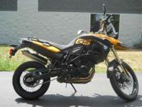 2009 BMW F 800 GS, Sunset Yellow,