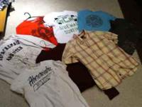 All the shirts are new except for 2 t's. med an